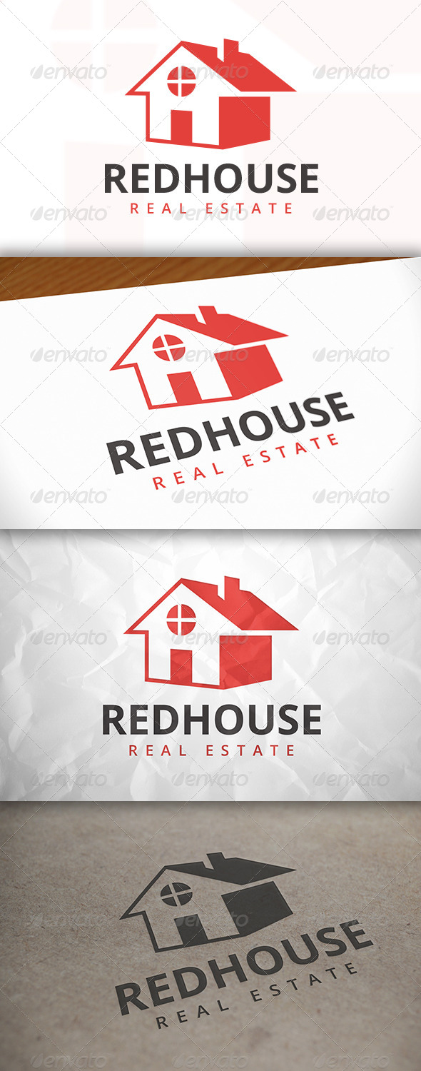 GraphicRiver Red House Logo 8134468