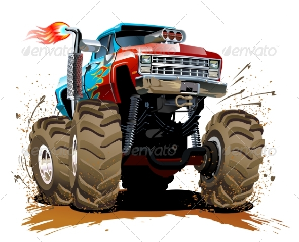 GraphicRiver Cartoon Monster Truck 8134669