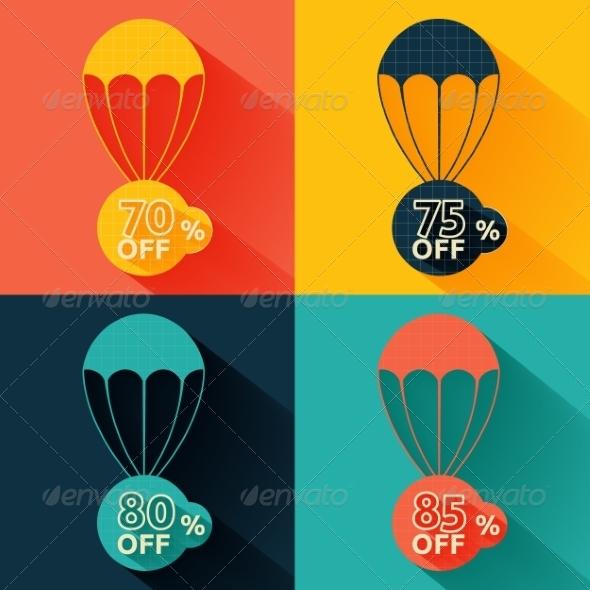 GraphicRiver Discount Parachute Set 8134679
