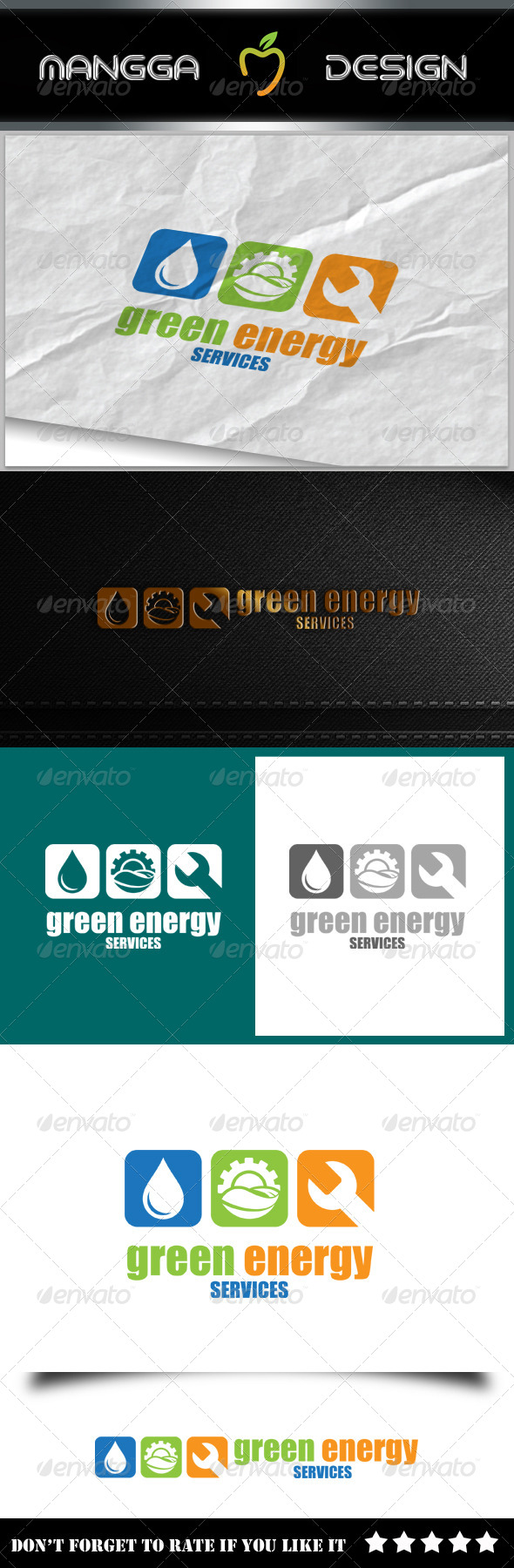 GraphicRiver Green Energy Services Logo 8134701