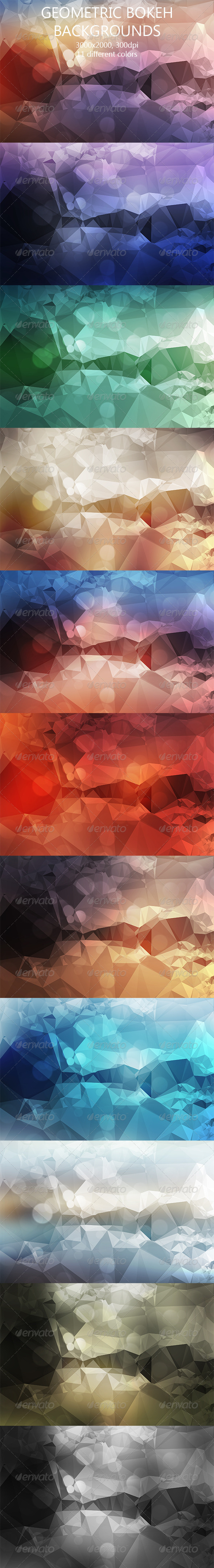 GraphicRiver Geometric Bokeh Backgrounds 8134734