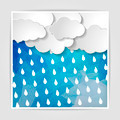 clouds with rain drops on the Abstract blue geometric background - PhotoDune Item for Sale