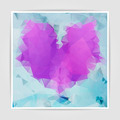 Abstract Multicolored geometric heart background with triangular - PhotoDune Item for Sale