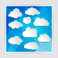 clouds collection on the Abstract Blue Triangular Polygonal back - PhotoDune Item for Sale