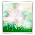 Abstract Multicolored geometric Spring background with grass sil - PhotoDune Item for Sale
