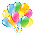 Multicolored glossy balloons isolated on a white background - PhotoDune Item for Sale