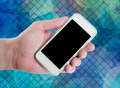 man hand showing smart phone with isolated screen - PhotoDune Item for Sale