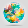 Abstract geometric colourful spherical shape with bubbles for gr - PhotoDune Item for Sale