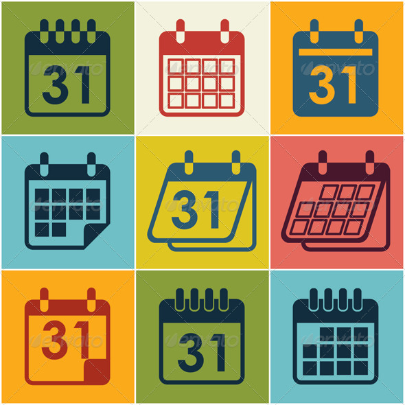 GraphicRiver Icon Calendar 8134847