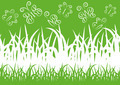Green spring background with butterflies and place for text - PhotoDune Item for Sale