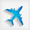 blue striped airplane on a grey background - PhotoDune Item for Sale