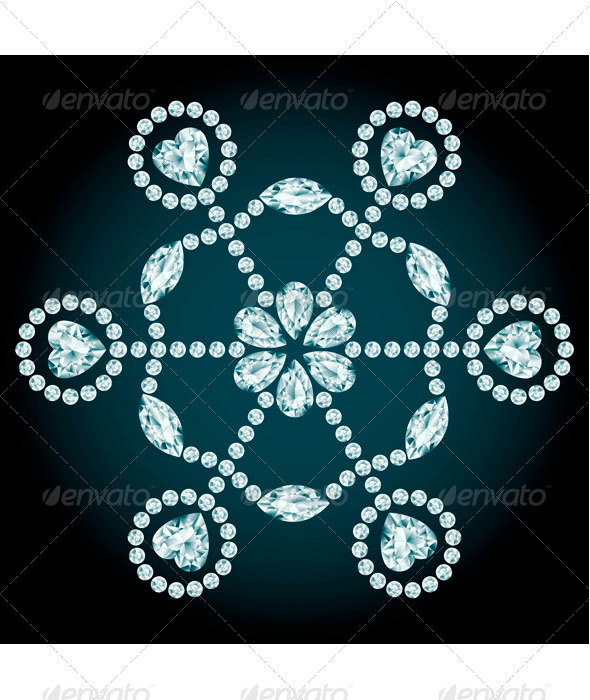 GraphicRiver Diamond Snowflake 8134986
