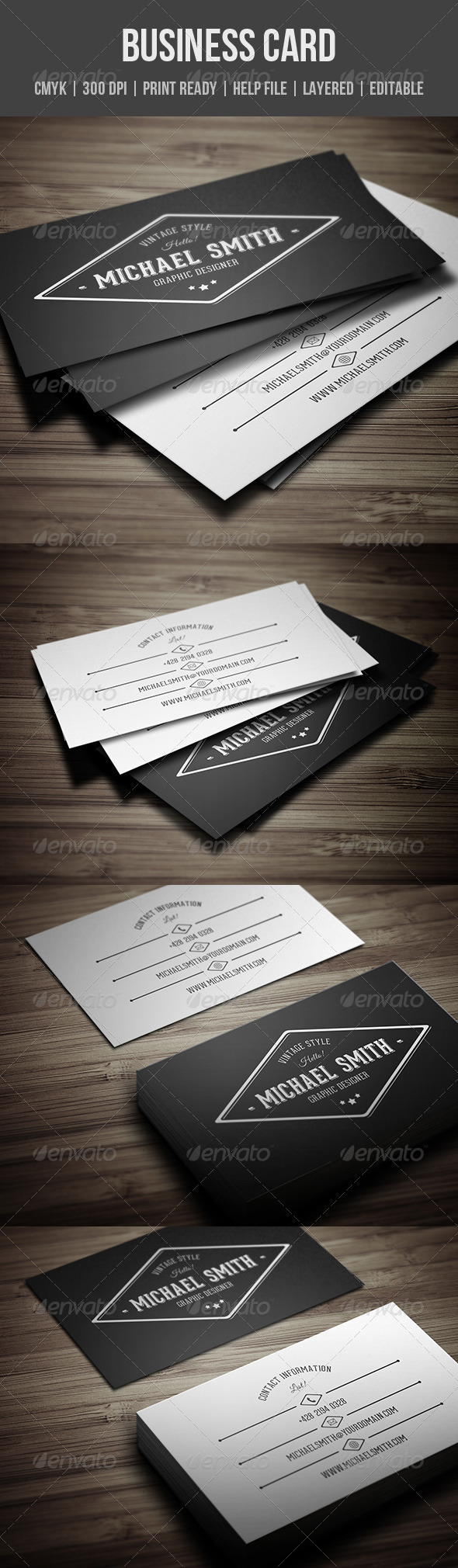 GraphicRiver Vintage Personal Business Card 8135035