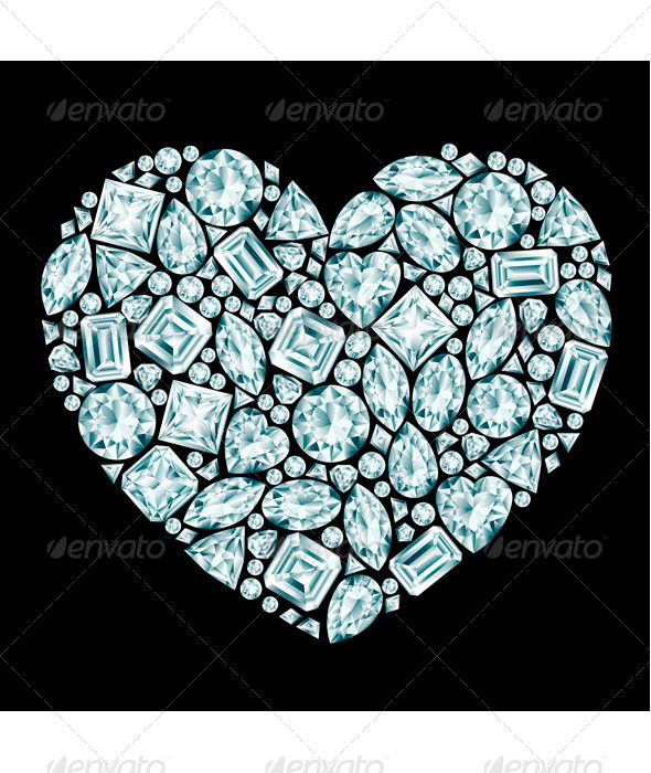 GraphicRiver Diamond Heart Composition 8135090