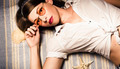 Eyewear fashion model. Pin up woman in sun shades - PhotoDune Item for Sale