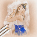 Artistic pencil drawing of a sailor pinup woman - PhotoDune Item for Sale
