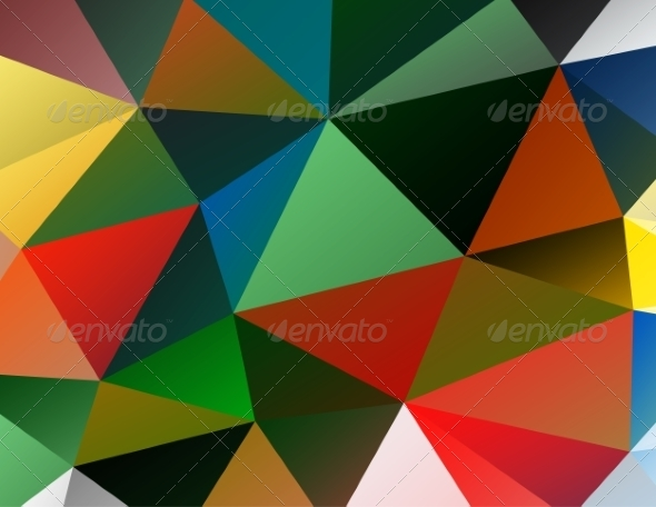 GraphicRiver Triangle Background Colorful Polygons 8135424