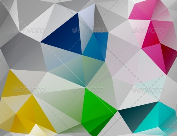 GraphicRiver Triangle Background Colorful Polygons 8135432