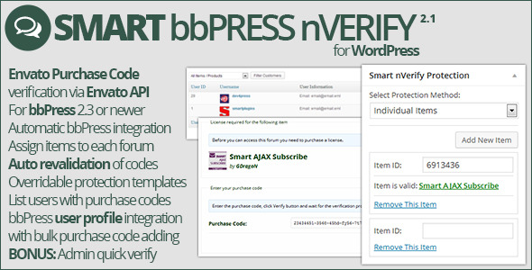 Smart bbPress nVerify - CodeCanyon Item for Sale