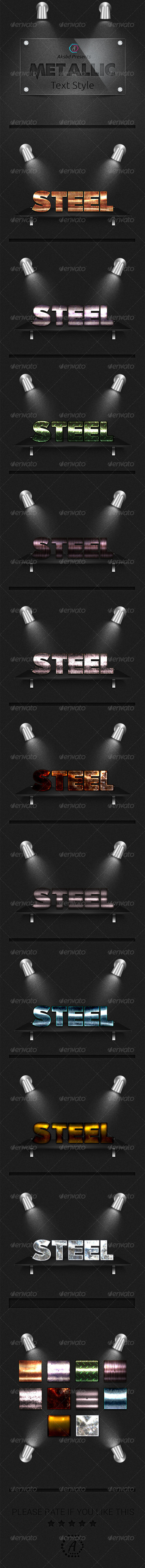 GraphicRiver Metallic Text Styles 10 UHD Styles 8135529