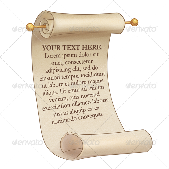 GraphicRiver Scroll with Editable Text 8127720