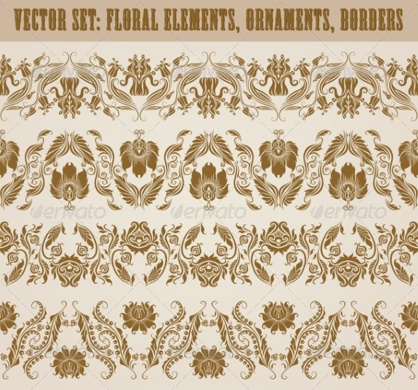 GraphicRiver Horizontal Elements Decoration Vector 8135738