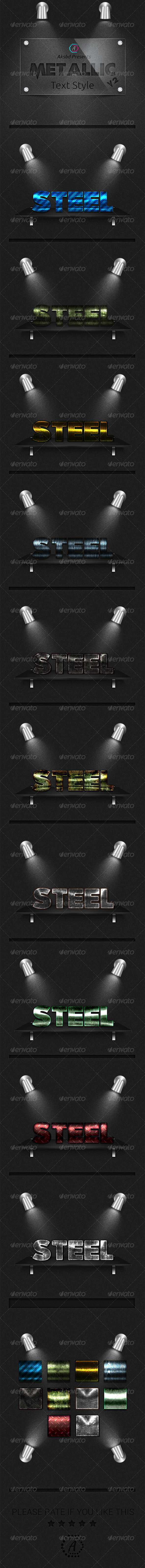 GraphicRiver Metalic Text Styles vol-2 10 UHD Styles 8135969