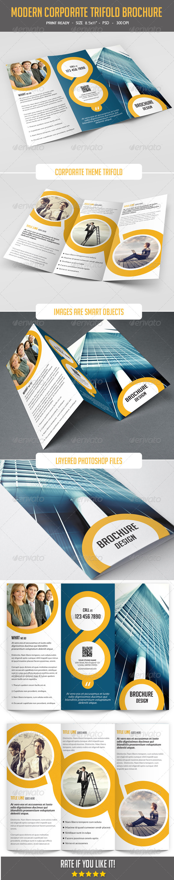 GraphicRiver Modern Corporate Tri-Fold Brochure 8136080