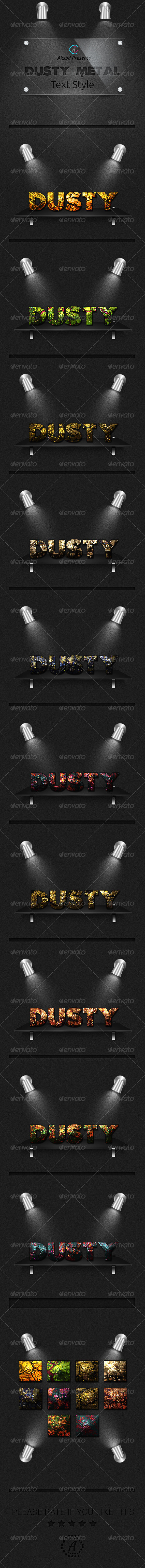 GraphicRiver Dusty Metal Text Style 10 UHD Styles 8136082
