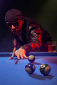 Fashionable pool player in a dark nightclub - PhotoDune Item for Sale