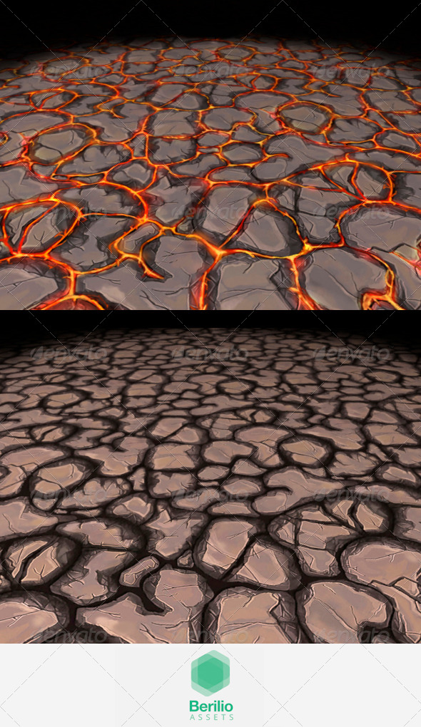 Lava Cracks And Rock Tileable Texture