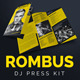 Rombus - DJ Press Kit Tri-Fold Brochure - GraphicRiver Item for Sale