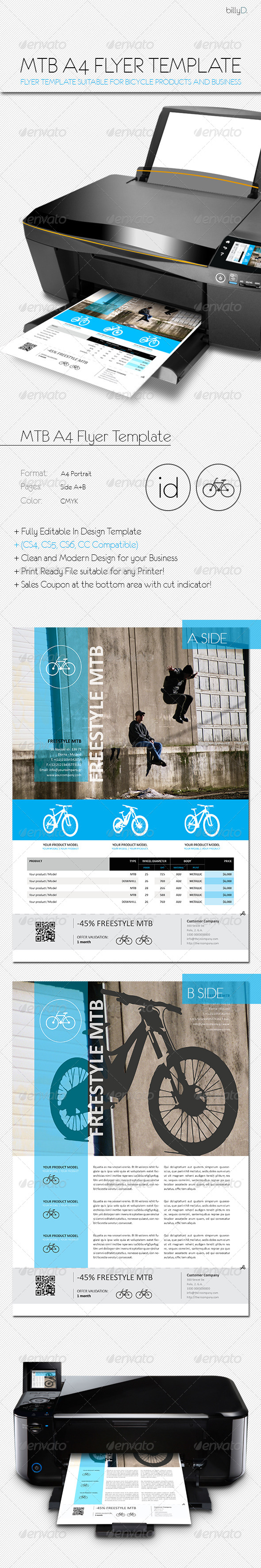 GraphicRiver MTB A4 Flyer Template 8136865