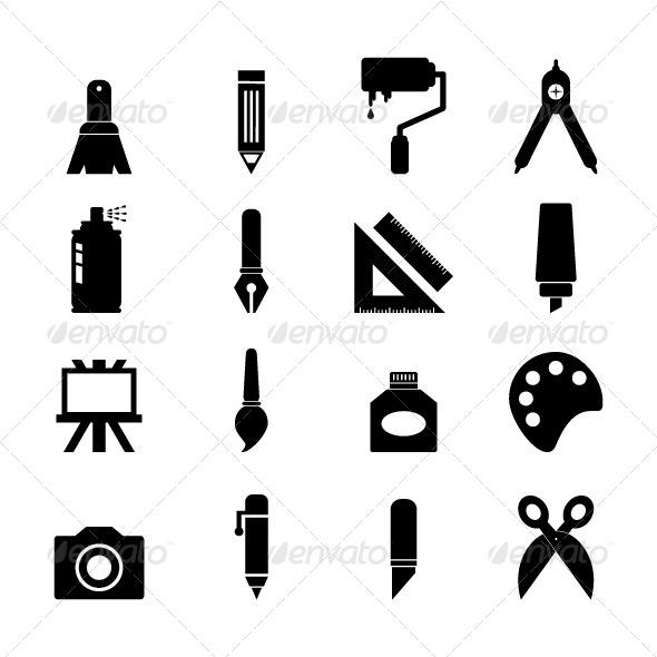 GraphicRiver Art Tool Icon 8136905