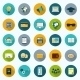 Set of Modern Icons in Flat Design - GraphicRiver Item for Sale
