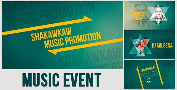 AE模板:动感潮流音乐会 舞蹈节目开场 DJ俱乐部表演模板Music Event Promo  免费下载