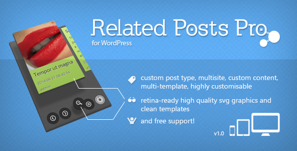 CodeCanyon Related Posts Pro for WordPress 8137229