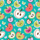 Retro Apples Seamless Background - GraphicRiver Item for Sale