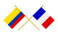 Flags of France and Colombia, 3d Render, Isolated on White - PhotoDune Item for Sale