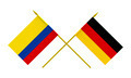 Flags of Germany and Colombia, 3d Render, Isolated on White - PhotoDune Item for Sale