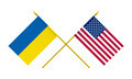 Flags of USA and Ukraine, 3d Render, Isolated on White - PhotoDune Item for Sale
