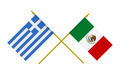 Flags of Mexico and Greece, 3d Render, Isolated on White - PhotoDune Item for Sale