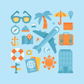 Icons in flat style - travel and vacation - PhotoDune Item for Sale