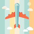 Plane illustration in flat style - PhotoDune Item for Sale