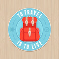 Vintage badge - flat icon. Travel concept - PhotoDune Item for Sale