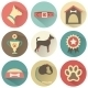 Retro Dog Icons Set. Vector Illustration for Web - GraphicRiver Item for Sale