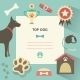 Retro Dog Template with Profile Canine Full - GraphicRiver Item for Sale