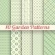 10 Green Garden Vector Seamless Patterns - GraphicRiver Item for Sale