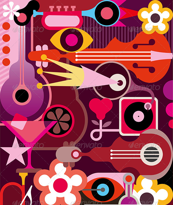 GraphicRiver Abstract Music Background 8138543