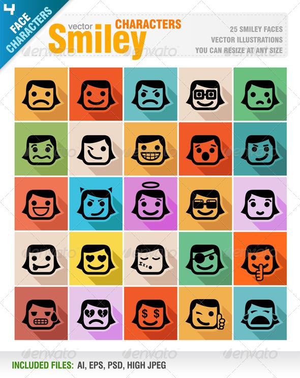 GraphicRiver Smiley Faces Icon Set 8138601